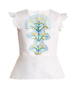 Peter Pilotto | Cotton And Guipure-Lace Top