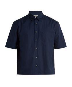 Vince   Half-Sleeved Cotton-Poplin Shirt