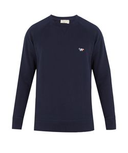 Maison Kitsune | Fox-Embroidered Cotton Sweatshirt