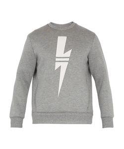 Neil Barrett | Lightning-Bolt Appliqué Cotton Sweatshirt