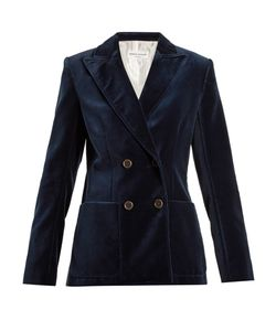 Sonia Rykiel | Double-Breasted Cotton-Velvet Jacket