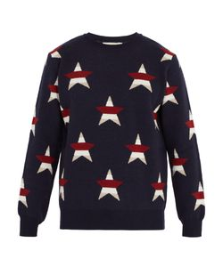 Maison Kitsune | Star-Intarsia Wool And Cashmere-Blend Sweater