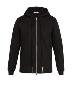 Givenchy | Faux-Shearling Lined Hooded Neoprene Sweatshirt