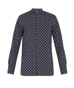 Paul Smith | Paisley-Print Granddad-Collar Cotton Shirt