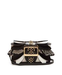 Burberry | Buckle Small Snakeskin Ostrisch And Leather Bag