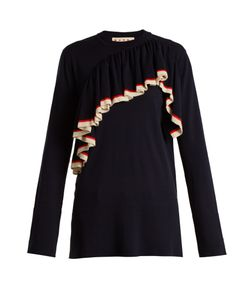 Marni | Ruffled-Front Wool-Knit Sweater