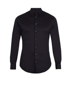 Giorgio Armani | Long-Sleeved Cotton-Jersey Shirt
