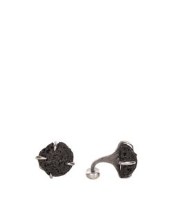 TITLE OF WORK | Volcanic Stone And Sterling-Silver Cufflinks
