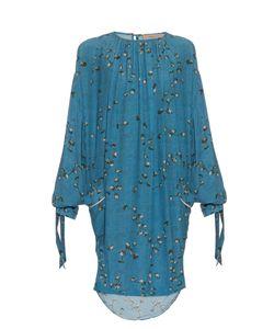 Preen Line   Balloon-Sleeve Daisy-Print Crepe Dress