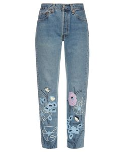 BLISS AND MISCHIEF | Wild Flower Embroidered Cropped Jeans