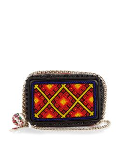 Christian Louboutin | Piloutin Bead-Embellished Leather Clutch
