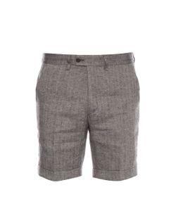 Michael Bastian | Herringbone Linen Shorts