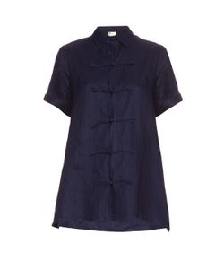 YOHJI YAMAMOTO REGULATION | Short-Sleeved Linen Top