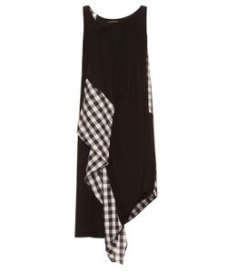 YOHJI YAMAMOTO REGULATION | Asymmetric Gingham-Panelled Dress