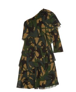 Sonia Rykiel | Swallow Camouflage-Print One-Shoulder Dress