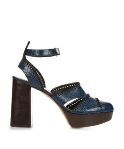 Robert Clergerie | Holly Leather High-Platform Sandals