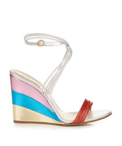Chloe | Metallic Rainbow Wedge Sandals