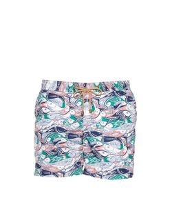THORSUN | Multi Fish-Print Swim Shorts