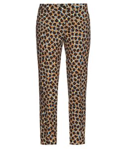 Etro | Floral-Print Wool-Crepe Trousers