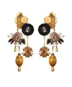 VICKISARGE | Sylvia Crystal Charm Earrings
