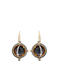 ELIE TOP | Diamond Onyx Silver Sphere Earrings