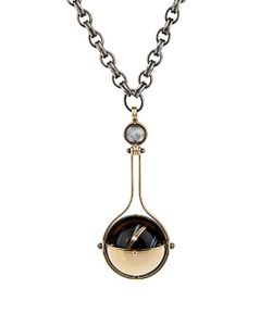 ELIE TOP | Diamond Onyx Yellowpluton Necklace