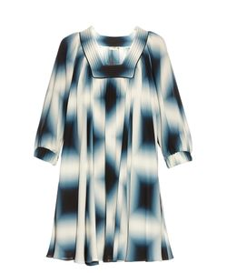 Fendi | Neon-Print Silk-Georgette Tunic Dress