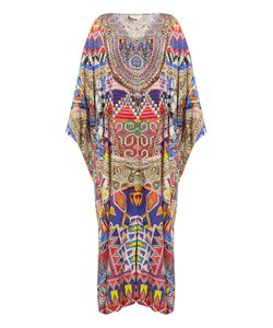 Camilla | Dream Weavers-Print Silk Maxi Dress