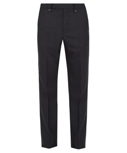 Lanvin | Slim-Fit Pinstriped Wool Trousers