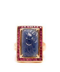 JADE JAGGER | Sapphire Ruby Surround Ring