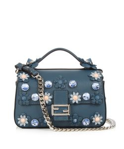 Fendi | Double Flowerland Micro Baguette Cross-Body Bag