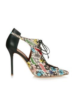 MALONE SOULIERS | Montana Snakeskin And Leather Pumps