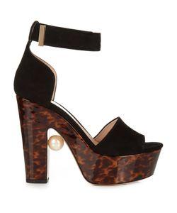 Nicholas Kirkwood   Maya Pearl-Embellished Block-Heeled Sandals