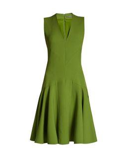 Alexander McQueen | V-Neck Wool-Blend Sleeveless Dress