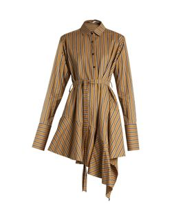 PALMER/HARDING | Asymmetric-Hem Striped Dress