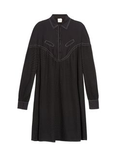 CECILIE COPENHAGEN | Feliz Long-Sleeved Cotton And Silk-Blend Dress