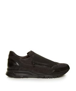 Lanvin | Suede And Leather Low-Top Trainers