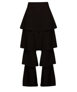 OSMAN | Perfect 5 Ruffled-Leg Trousers