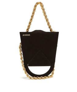 JACQUEMUS | Upside-Down Triple-Chain Suede Bag