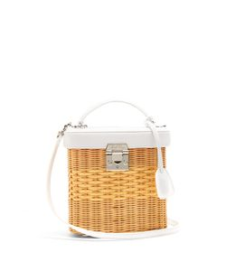 Mark Cross | Benchley Rattan And Leather Shoulder Bag