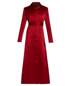 The Row | Neyton Washed Duchess-Satin Long-Line Coat