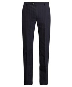 Éditions M.R | Pinstripe Wool Slim-Fit Trousers