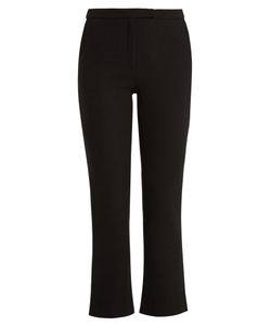 OSMAN | Yasmin Kick-Flare Wool Cropped Trousers