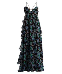 MSGM | -Print Silk-Georgette Maxi Dress