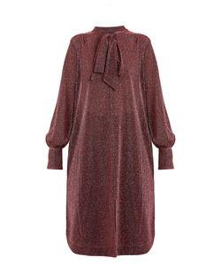 Rachel Comey | Upland Neck-Tie Lamé Dress