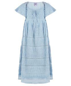 Thierry Colson | Raffia Ruched Cotton-Blend Voile Dress