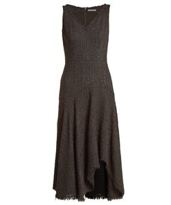 Alexander McQueen | V-Neck Sleeveless Tweed Dress