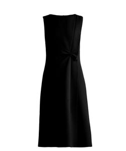 Bottega Veneta | Sleeveless Asymmetric Wool-Crepe Dress