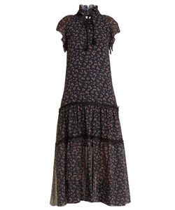 See By Chloe | -Print Georgette Tiered Dress