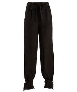 Roland Mouret | Askern Wide-Leg Silk Trousers